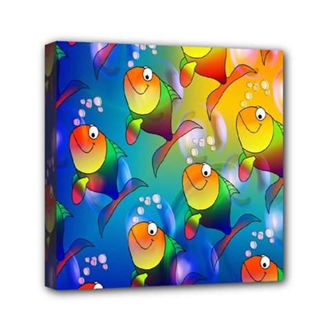 Fish Pattern Mini Canvas 6  x 6