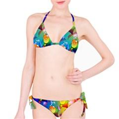Fish Pattern Bikini Set