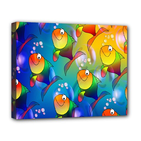Fish Pattern Deluxe Canvas 20  x 16