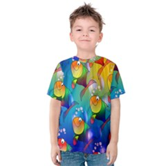 Fish Pattern Kids  Cotton Tee