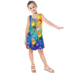 Fish Pattern Kids  Sleeveless Dress
