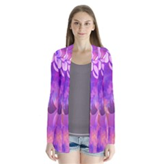 Abstract Flowers Bird Artwork Cardigans