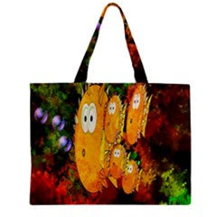 Abstract Fish Artwork Digital Art Zipper Mini Tote Bag