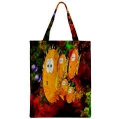 Abstract Fish Artwork Digital Art Zipper Classic Tote Bag