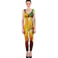 Abstract Fish Artwork Digital Art OnePiece Catsuit