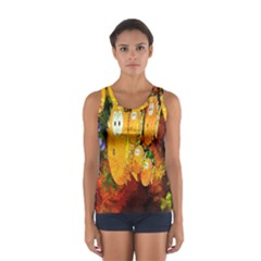 Abstract Fish Artwork Digital Art Women s Sport Tank Top