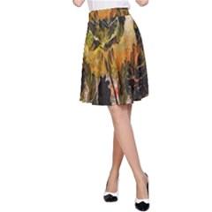 Abstract Digital Art A Line Skirt