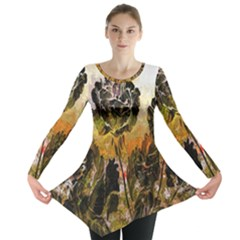 Abstract Digital Art Long Sleeve Tunic