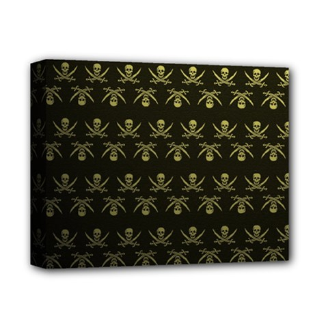 Abstract Skulls Death Pattern Deluxe Canvas 14  x 11