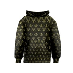 Abstract Skulls Death Pattern Kids  Pullover Hoodie