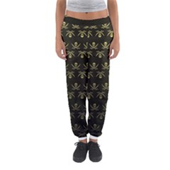 Abstract Skulls Death Pattern Women s Jogger Sweatpants