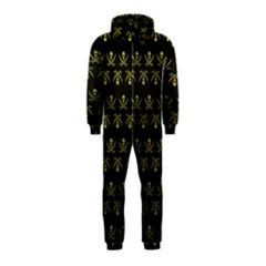 Abstract Skulls Death Pattern Hooded Jumpsuit (Kids)