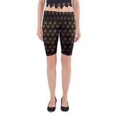 Abstract Skulls Death Pattern Yoga Cropped Leggings