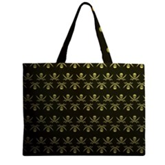 Abstract Skulls Death Pattern Large Tote Bag
