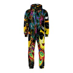 Abstract Digital Art Hooded Jumpsuit (Kids)