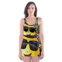 Abstract Digital Art Skater Dress Swimsuit