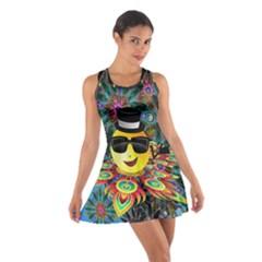 Abstract Digital Art Cotton Racerback Dress
