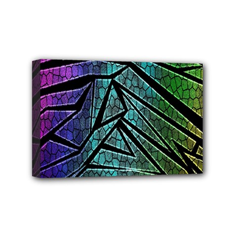 Abstract Background Rainbow Metal Mini Canvas 6  X 4