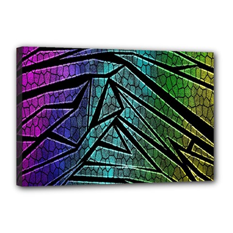 Abstract Background Rainbow Metal Canvas 18  x 12