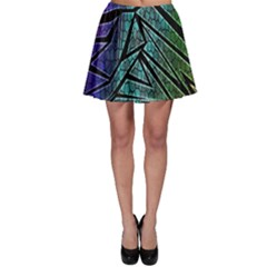 Abstract Background Rainbow Metal Skater Skirt