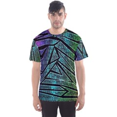 Abstract Background Rainbow Metal Men s Sport Mesh Tee