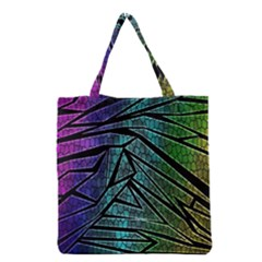 Abstract Background Rainbow Metal Grocery Tote Bag