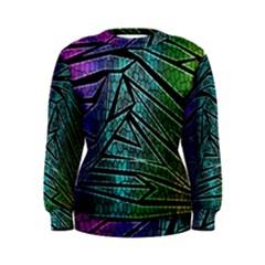 Abstract Background Rainbow Metal Women s Sweatshirt