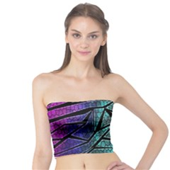 Abstract Background Rainbow Metal Tube Top