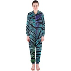 Abstract Background Rainbow Metal Hooded Jumpsuit (Ladies)