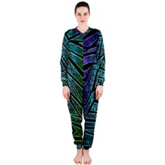 Abstract Background Rainbow Metal OnePiece Jumpsuit (Ladies)