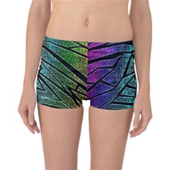 Abstract Background Rainbow Metal Reversible Bikini Bottoms