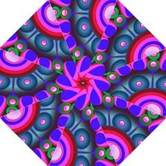 Abstract Digital Art  Hook Handle Umbrellas (Medium)
