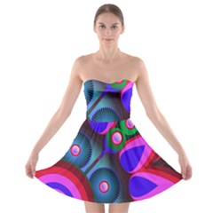 Abstract Digital Art  Strapless Bra Top Dress