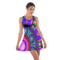 Abstract Digital Art  Cotton Racerback Dress