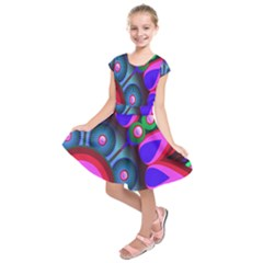 Abstract Digital Art  Kids  Short Sleeve Dress