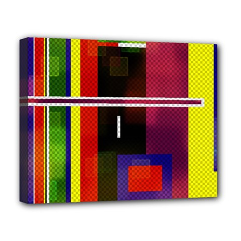 Abstract Art Geometric Background Deluxe Canvas 20  x 16