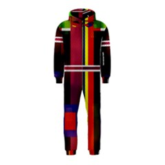 Abstract Art Geometric Background Hooded Jumpsuit (Kids)