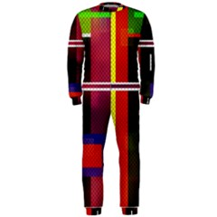 Abstract Art Geometric Background Onepiece Jumpsuit (men)