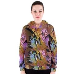 Abstract Digital Art Women s Zipper Hoodie