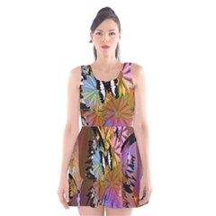 Abstract Digital Art Scoop Neck Skater Dress