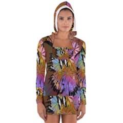 Abstract Digital Art Women s Long Sleeve Hooded T Shirt
