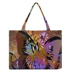 Abstract Digital Art Medium Zipper Tote Bag