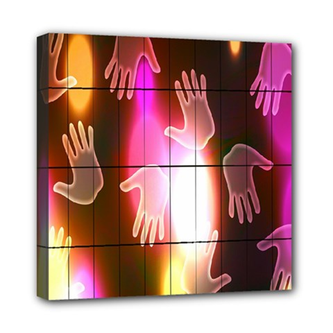 Abstract Background Design Squares Mini Canvas 8  X 8
