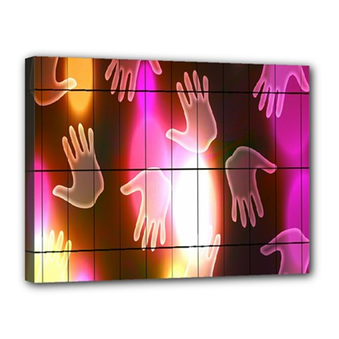 Abstract Background Design Squares Canvas 16  x 12