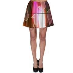 Abstract Background Design Squares Skater Skirt