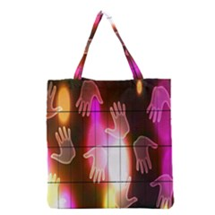 Abstract Background Design Squares Grocery Tote Bag