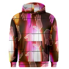 Abstract Background Design Squares Men s Pullover Hoodie