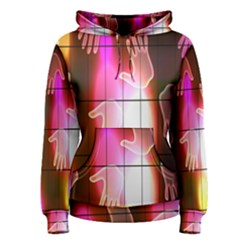 Abstract Background Design Squares Women s Pullover Hoodie
