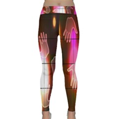 Abstract Background Design Squares Classic Yoga Leggings