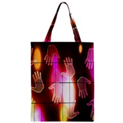 Abstract Background Design Squares Zipper Classic Tote Bag